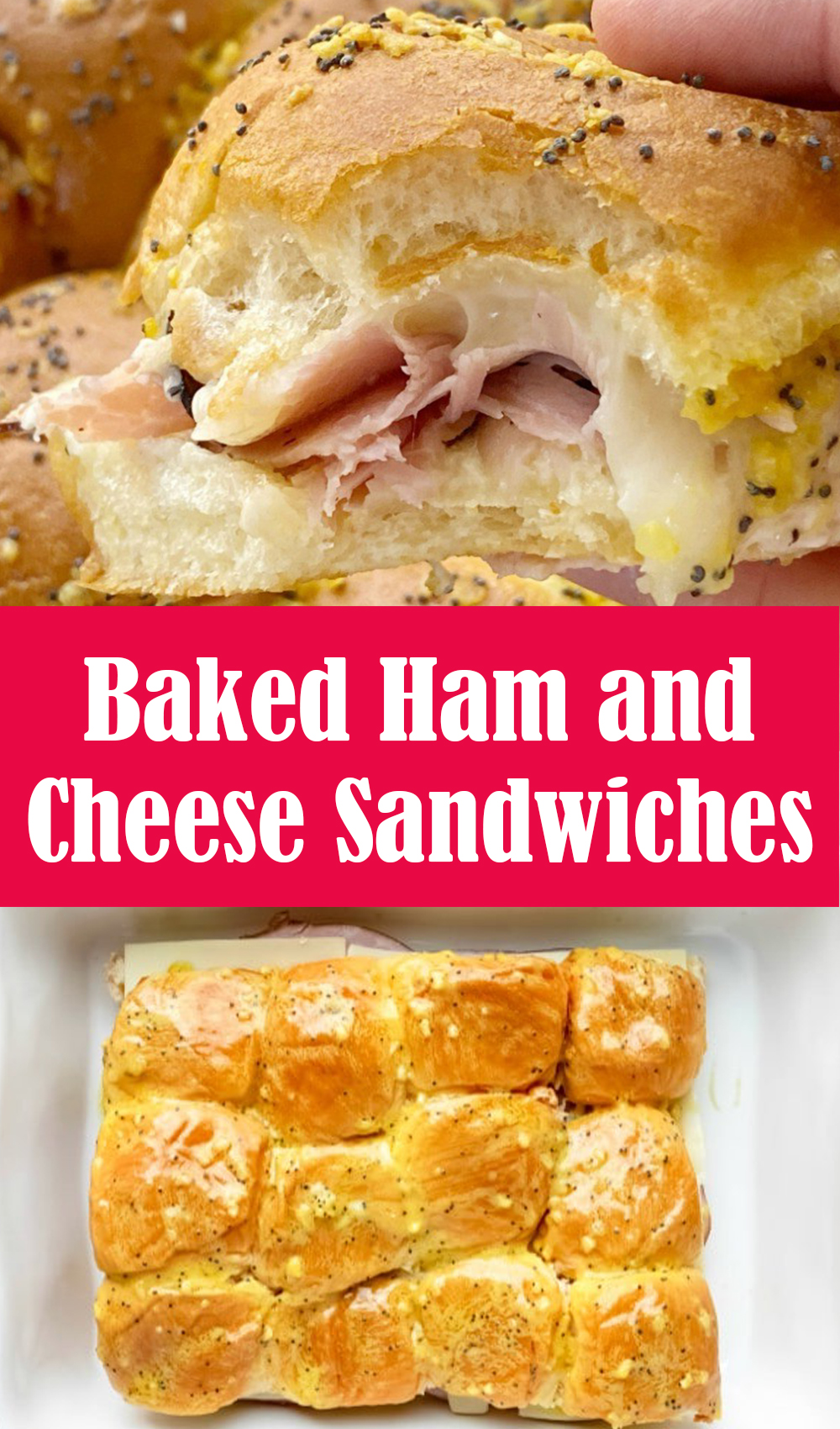Delicious Baked Ham and Cheese Sandwiches