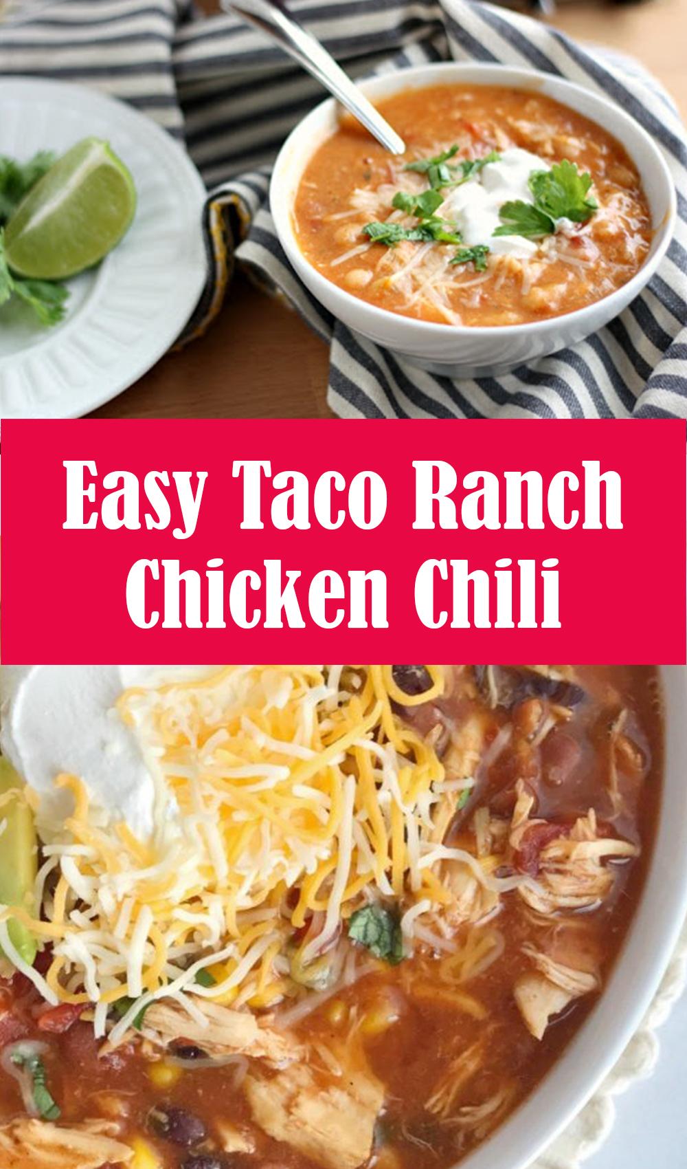 Easy Taco Ranch Chicken Chili