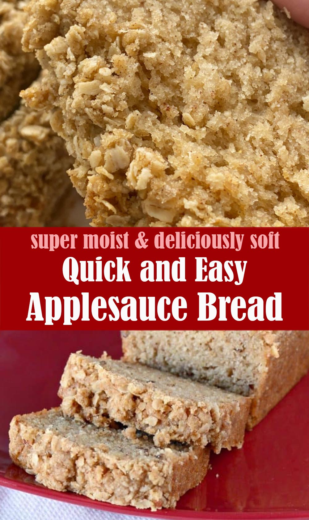 Quick and Easy Applesauce Bread