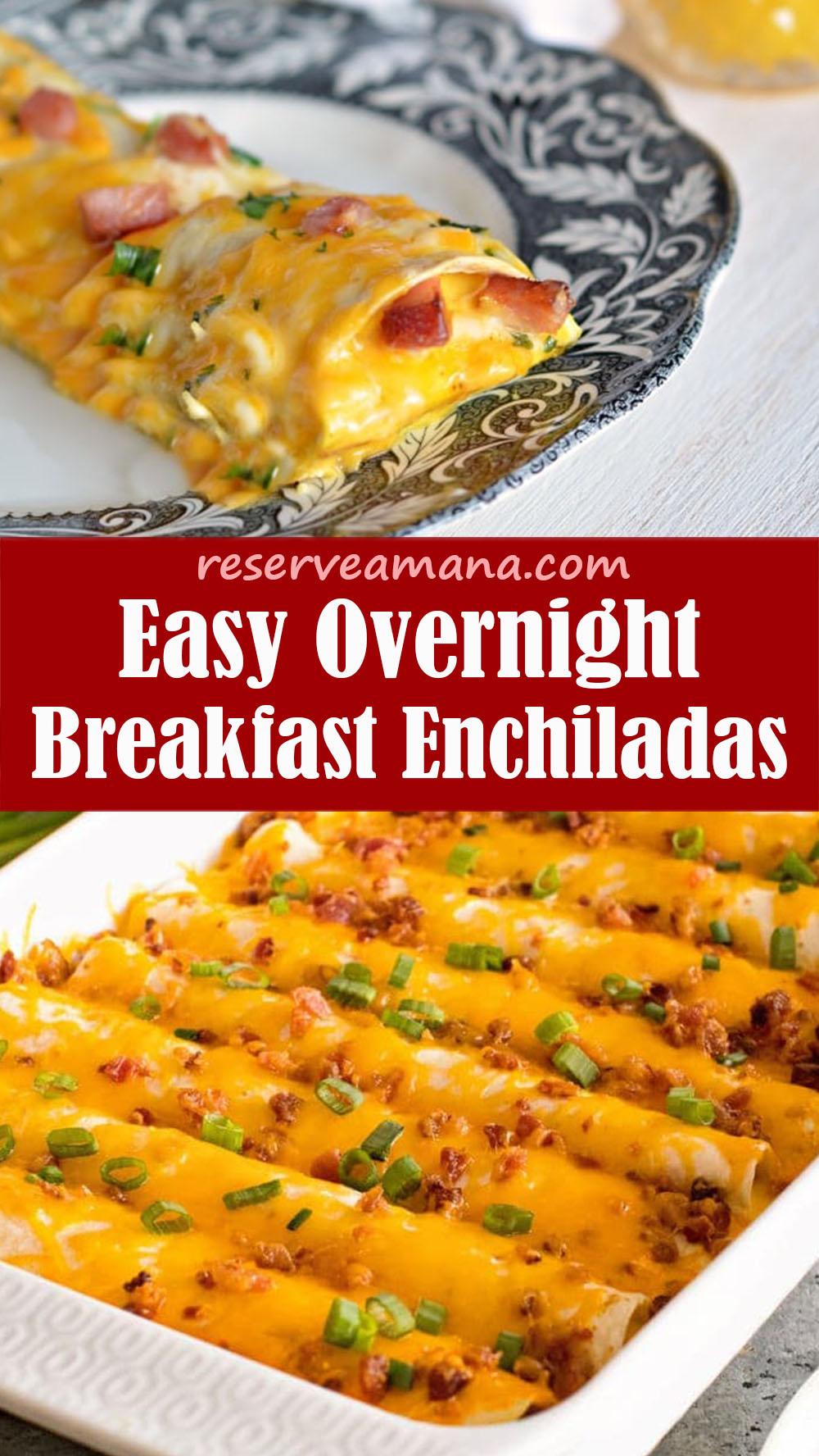 Easy Overnight Breakfast Enchiladas