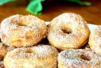Easy Air Fryer Cinnamon-Sugar Doughnuts