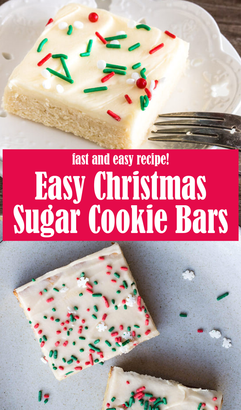 Easy Christmas Sugar Cookie Bars