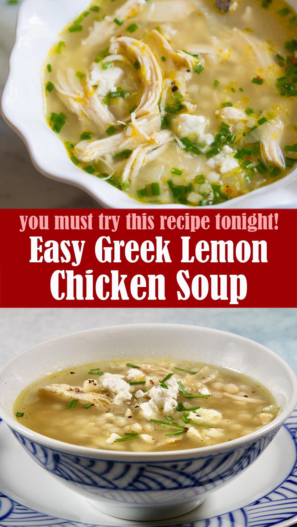 Easy Greek Lemon Chicken Soup Recipe